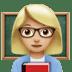 👩🏼🏫 woman teacher: medium-light skin tone Emoji on Apple Platform