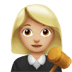 👩🏼‍⚖️ woman judge: medium-light skin tone Emoji on Apple Platform