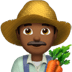👨🏾‍🌾 man farmer: medium-dark skin tone Emoji on Apple Platform