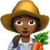 👩🏾‍🌾 woman farmer: medium-dark skin tone Emoji on Apple Platform