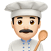 👨🏻‍🍳 man cook: light skin tone Emoji on Apple Platform