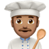 👨🏽‍🍳 man cook: medium skin tone Emoji on Apple Platform