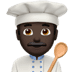 👨🏿‍🍳 man cook: dark skin tone Emoji on Apple Platform