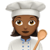 👩🏾‍🍳 woman cook: medium-dark skin tone Emoji on Apple Platform