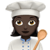 Woman Cook: Dark Skin Tone