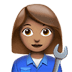 👩🏽‍🔧 woman mechanic: medium skin tone Emoji on Apple Platform