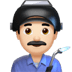 👨🏻‍🏭 man factory worker: light skin tone Emoji on Apple Platform