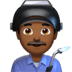 👨🏾‍🏭 man factory worker: medium-dark skin tone Emoji on Apple Platform