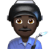 👨🏿‍🏭 man factory worker: dark skin tone Emoji on Apple Platform