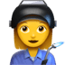 👩‍🏭 woman factory worker Emoji on Apple Platform