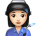 👩🏻‍🏭 woman factory worker: light skin tone Emoji on Apple Platform