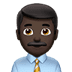 👨🏿‍💼 man office worker: dark skin tone Emoji on Apple Platform