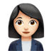 👩🏻‍💼 woman office worker: light skin tone Emoji on Apple Platform