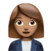 👩🏽‍💼 Medium Skin Tone Female Office Worker Emoji on Apple Platform