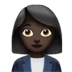 👩🏿‍💼 woman office worker: dark skin tone Emoji on Apple Platform