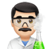 👨🏻‍🔬 man scientist: light skin tone Emoji on Apple Platform