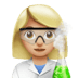 👩🏼‍🔬 woman scientist: medium-light skin tone Emoji on Apple Platform
