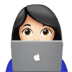 👩🏻‍💻 woman technologist: light skin tone Emoji on Apple Platform