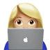 👩🏼‍💻 woman technologist: medium-light skin tone Emoji on Apple Platform