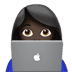 👩🏿‍💻 woman technologist: dark skin tone Emoji on Apple Platform