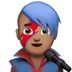 👨🏽‍🎤 man singer: medium skin tone Emoji on Apple Platform