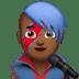 👨🏾🎤 man singer: medium-dark skin tone Emoji on Apple Platform