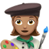 👩🏽‍🎨 woman artist: medium skin tone Emoji on Apple Platform