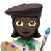 👩🏿‍🎨 woman artist: dark skin tone Emoji on Apple Platform