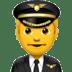 👨✈️ man pilot Emoji on Apple Platform