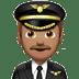 👨🏽✈️ man pilot: medium skin tone Emoji on Apple Platform