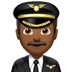 👨🏾‍✈️ man pilot: medium-dark skin tone Emoji on Apple Platform