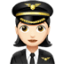 Woman Pilot: Light Skin Tone