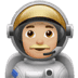 👨🏼‍🚀 man astronaut: medium-light skin tone Emoji on Apple Platform