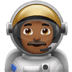 Man Astronaut: Medium-dark Skin Tone