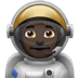 Man Astronaut: Dark Skin Tone