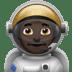 👨🏿🚀 man astronaut: dark skin tone Emoji on Apple Platform