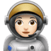 👩🏻‍🚀 woman astronaut: light skin tone Emoji on Apple Platform