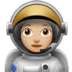 Woman Astronaut: Medium-light Skin Tone