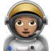 Medium Skin Tone Female Astronaut