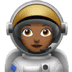 Medium Dark Skin Tone Female Astronaut