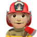 👨🏼‍🚒 man firefighter: medium-light skin tone Emoji on Apple Platform