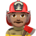 Man Firefighter: Medium Skin Tone