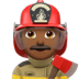 Man Firefighter: Medium-dark Skin Tone