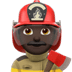 Man Firefighter: Dark Skin Tone