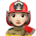 👩🏻‍🚒 woman firefighter: light skin tone Emoji on Apple Platform