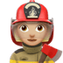 Woman Firefighter: Medium-light Skin Tone