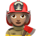 👩🏽‍🚒 woman firefighter: medium skin tone Emoji on Apple Platform