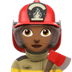 👩🏾‍🚒 Medium Dark Skin Tone Female Firefighter Emoji on Apple Platform