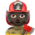 👩🏿‍🚒 woman firefighter: dark skin tone Emoji on Apple Platform