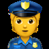 👮 police officer Emoji on Apple Platform